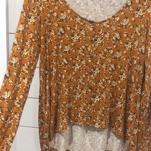 New American Eagle Floral Top